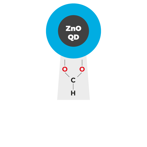 Zinc Oxide Quantum Dots (ZnO QDs) formate ligands