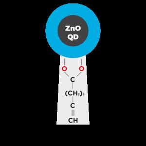 Clickable click ZnO QD